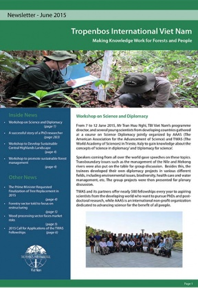 Tropenbos International Viet Nam Newsletter - June 2015