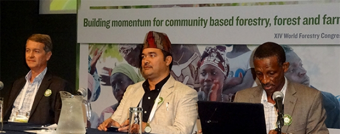 Forest and farm producers speak out at the World Forestry Congress