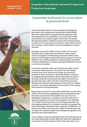 Sustainable livelihoods for conservation at grassroots level