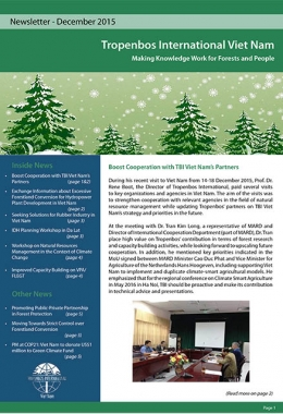 Tropenbos International Viet Nam Newsletter - December 2015