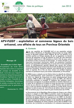 FLEGT-VPA: Legal exploitation and trade of artisanal timber, everyone's business in Eastern Province