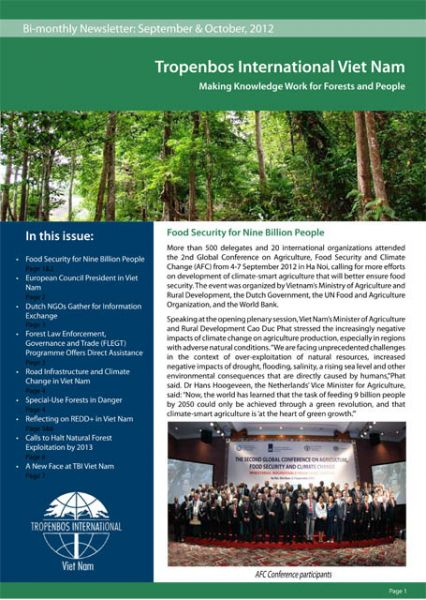 Bi-Monthly Newsletter September - October - Tropenbos International