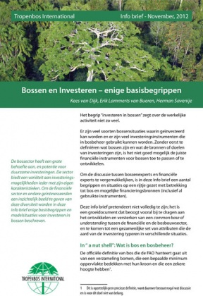 Forest and  Investment – Some  basic concepts
