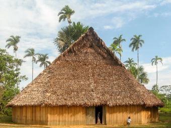 "SUB: Traditional indigenous house ""maloca"" in Caquetá, Colombia"